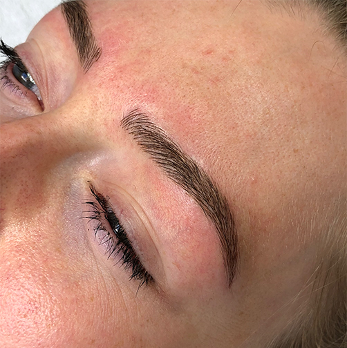 microblading resultaat na