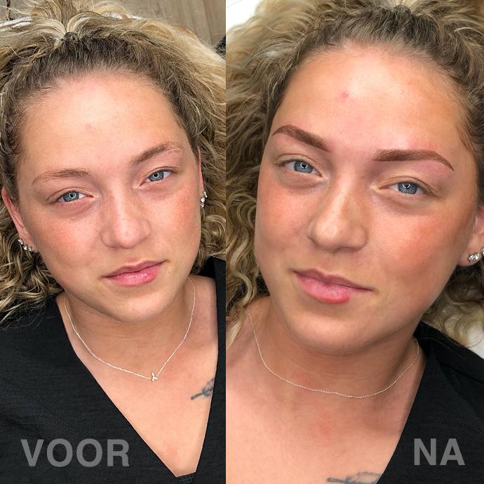 12 ombre powder brows resultaat